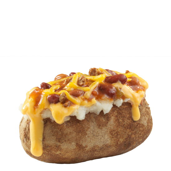 Chili Cheese Baked Potato